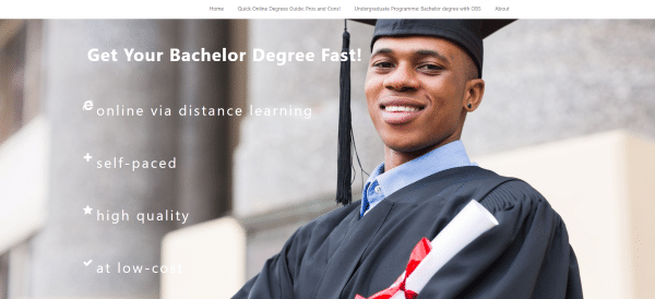 Fast bachelor degree